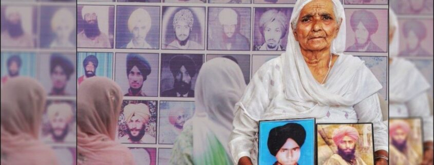 A poster for Punjab Disappeared, a documentary on enforced disappearances in Punjab.
